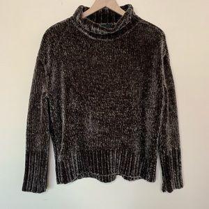 Cynthia Rowley Brown Chenille Turtleneck Sweater